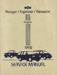1992 Ford Ranger, Explorer & Aerostar Shop Manual - 2 Volume Set