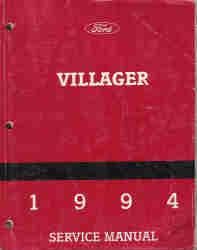 1994 Ford Villager Service Manual