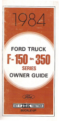 1984 Ford F-150 thru F-350 Factory Owner's Guide