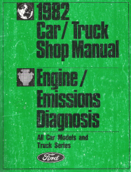 1982 Ford Car/Truck Shop Manual - Engine/Emissions Diagnosis