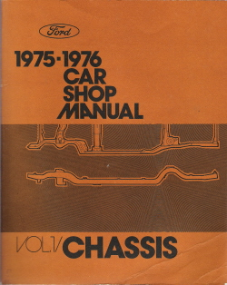 1975 - 1976 Ford / Lincoln / Mercury Car Factory Shop Manual - 5 Volume Set