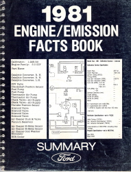1981 Ford Car and Truck Engine/Emission Facts Book Summary Factory Workshop Manual