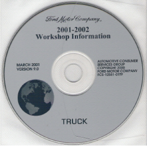 2001 -2002 Model Year Ford Truck & Van: Factory Workshop Information CD-ROM