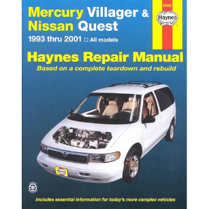 1993 - 2001 Mercury Villager & Nissan Quest, Haynes Repair Manual