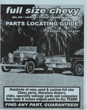 Chevrolet Full Size Cars Parts Locating Guide - All Models