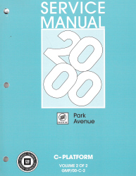 2000 Buick Park Avenue Factory Service Manual - 2 Volume Set