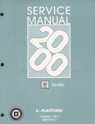 2000  Cadillac Seville  Factory Service Manual - 3 Volume Set