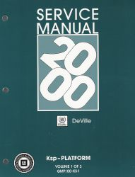 2000  Cadillac DeVille  Factory Service Manual - 3 Volume Set
