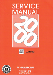 2000 Chevrolet Lumina Sedan Service Manual