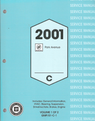 2001 Buick Park Avenue Factory Service Manual - 2 Volume Set