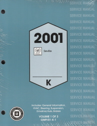 2001 Cadillac Seville Factory Service Manual - 3 Volume Set