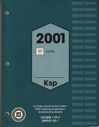 2001 Cadillac Deville Factory Service Manual - 3 Volume Set