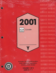 2001 Chevrolet Corvette Service Manual - 3 Volume Set