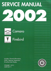 2002 Chevrolet Camaro & Pontiac Firebird Factory Service Manual