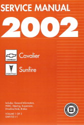 2002 Chevy Cavalier And Pontiac Sunfire Factory Service Manual