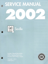 2002 Cadillac Seville Factory Service Manual - 2 Volume Set