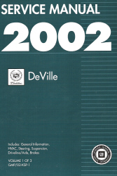2002 Cadillac Deville Factory Service Manual