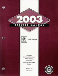 2003 Buick Park Avenue Factory Service Manual - 2 Vol. Set