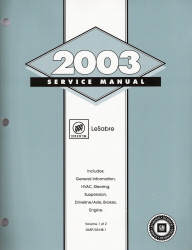 2003 Buick LeSabre Factory Service Manual - 2 Vol. Set