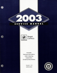 2003 Buick Regal & Century Factory Service Manual - 3 Vol. Set