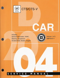 2004 Cadillac CTS, CTS-V Factory Service Manual - 3 Vol. Set