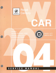 2004 Buick Regal & Century Factory Service Manual - 3 Volume Set