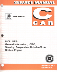 2005 Buick Park Avenue Factory Service Manual - 2 Volume Set