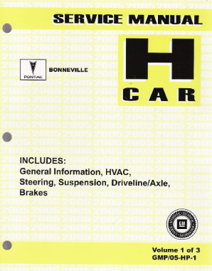 2005 Pontiac Bonneville Factory Service Manual - 2 Volume Set