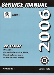 2006 Buick Lucerne Factory Service Manual