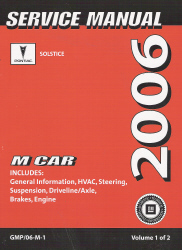 2006 Pontiac Solstice Factory Service Manual - 2 Volume Set