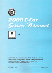 2008 Pontiac G8 Factory Service Manual