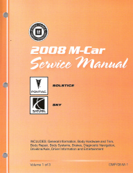 2008 Pontiac Solstice & Saturn Sky Factory Service Manual