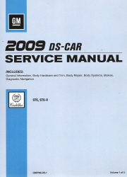2009 Cadillac STS, STS-V Factory Service Manual - 5 Volume Set