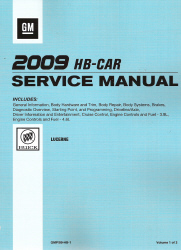 2009 Buick Lucerne Factory Service Manual - 3 Volume Set