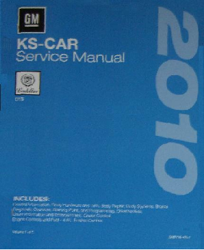 2010 Cadillac DTS Factory Service Repair Workshop Manual, 3 Vol. Set