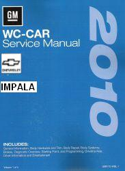 2010 Chevrolet Impala (WC Car) Factory Service Manual- 3 Volume Set