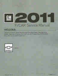 2011 Chevrolet Camaro Factory Service Manual, 4 Volume Set