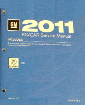 2011 Cadillac DTS Factory Service Shop Repair Manual, 3 Vol. Set