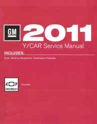 2011 Chevrolet Corvette Factory Service Manual- 4 Volume Set