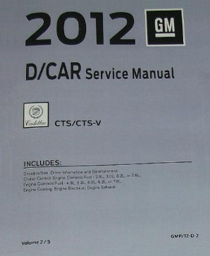 2012 Cadillac CTS / CTS-V Factory Service Manual Set