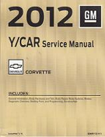 2012 Chevrolet Corvette Factory Service Manual - 4 Vol. Set