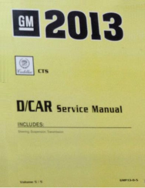 2013 Cadillac CTS / CTS-V Factory Service Manual- 5 Volume Set