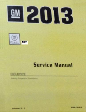 2013 Cadillac SRX Factory Service Manual- 4 Volume Set