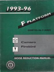 1993 -1996 Chevrolet Camaro and Pontiac Firebird Factory Noise Reduction Manual