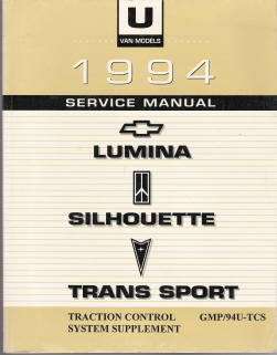 1994 Chevrolet / GMC Lumina, Silhouette, Trans Sport Factory Traction Control System Supplement