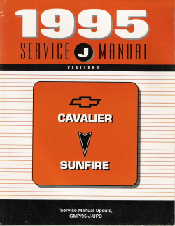 1995 Chevrolet Cavalier / Pontiac Sunfire Factory Service Manual Update