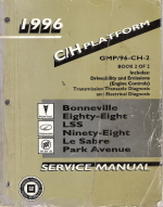1996 Pontiac Bonneville, Oldsmobile Eighty-Eight, LSS, Ninety-Eight, Buick LeSabre, Park Avenue Factory Service Manual - 2 Volume Set