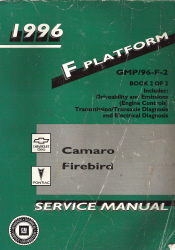 1996 Chevrolet Camaro & Pontiac Firebird Factory Service Manual - 2 Volume Set