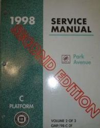 1998 Buick Park Avenue Service Manual - 3 Volume Set