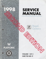 1998 Buick Regal, Century Service Manual - Vol. 1 & 3 of 3, 2nd Ed.